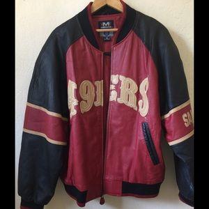 San Francisco 49er's leather jacket